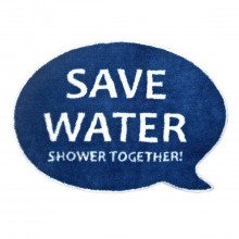 """Douchemat """"Save Water, Shower Together!"""""""