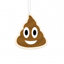 Emoticon-luchtverfrisser voor in de auto: Pile of poo - drol
