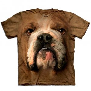 Big Face dieren T-shirts - Bulldog